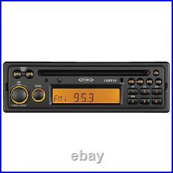 Jensen Marine Boat Bluetooth AUX Marine CD Stereo Radio + Receiver Splash Cover