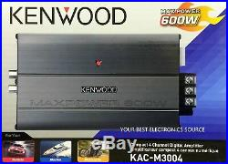 Kenwood KAC-M3004 600 Watts 4-Channel Motorcycle Marine Boat ATV Amplifier NEW