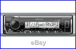 Kenwood KMR-M325BT Single-DIN USB/MP3 Marine Stereo Boat Radio Bluetooth Sirius
