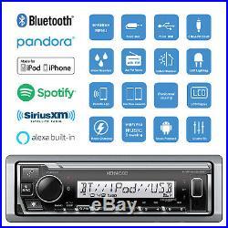 Kenwood Marine Bluetooth Digital Media Radio, 4x 6.5 Boat Speakers (Charcoal)
