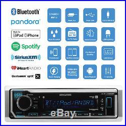 Kenwood Marine Boat Bluetooth Outdoor Radio With Marine Digital Wired Remote