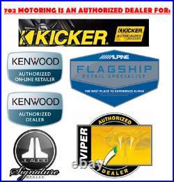 Kenwood Marine Boat Bt Kmr-m325bt Radio + 2 X Kicker Marine Speakers + 600w Amp