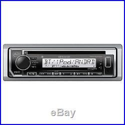 Kenwood Marine Boat CD/MP3 USB iPod iPhone Pandora Radio/4 X-6.5 White Speakers