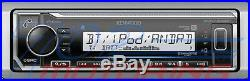 Kenwood Marine Boat Kmr-322bt Radio + (4) Pairs Kicker Marine Bkm604b 6.5' Km604