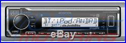 Kenwood Marine Boat Kmr-m322bt Radio + (4) Pairs Kicker Marine Bkm604w 6.5' M604