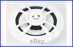 Kenwood PKG-MR375BT FM CD Marine Boat Radio & Pair 6.5'' Marine Speakers