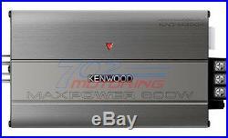 Kmr-m325bt Marine Boat Usb Aux Mp3 Radio + 4 X Kicker Marine Km604w + 600w Amp