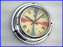 Kompas Rijeka Yugoslavia Ships Boat Yacht Marine Radio Room Quartz Clock Watch