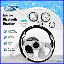 Lanzar Waterproof Marine Stereo Receiver 4x28 W Round Boat in-Dash Radio Recei