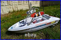Large Yacht Malibu Radio Remote Control Racing Speed Boat 130 Motor 1/32 Scale