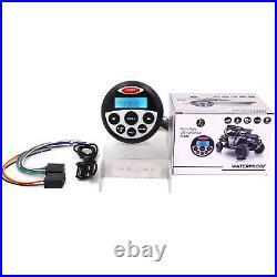 Marine Audio Bluetooth Receiver Boat FM/AM Radio+3140W Speakers+Radio Antenna