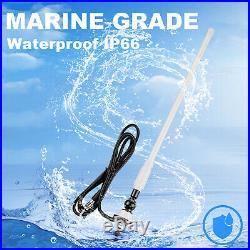 Marine Audio Bluetooth Receiver Boat Radio + 4'' Box Waterproof Speaker +Antenna