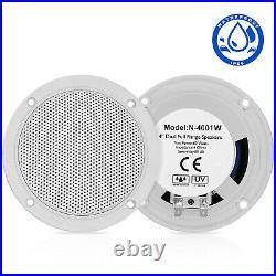 Marine Audio Boat Bluetooth Radio Stereo Receiver ATV + 4 inch Car Audio Speaker