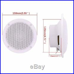 Marine Audio Gauge Stereo Bluetooth Audio Radio Receiver +Boat Speakers +Antenna