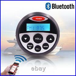 Marine Audio Stereo Kit Boat Radio Sound System& Waterproof 4 Speaker & Antenna