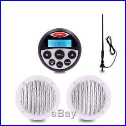 Marine Audio System Boat Bluetooth Stereo Car Radio Headunit+Speakers+Antenna