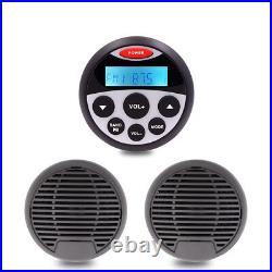 Marine Audio Waterproof Radio FM Stereo Receiver Speakers Combo For boat ATV