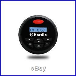 Marine Bluetooth 4Radio+3Boat yacht black Hot tub Speakers+FM/AM Aerial