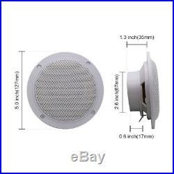 Marine Bluetooth AM FM Boat Audio Radio+4 2 Way Marine Boat Speakers 2 Pairs
