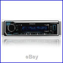 Marine Bluetooth Radio, 4x Kicker 6.5 LED Boat Speakers