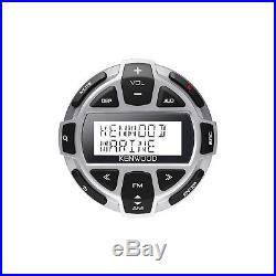 Marine Bluetooth Radio, 4x Kicker 6.5 LED Boat Speakers, Wired Remote