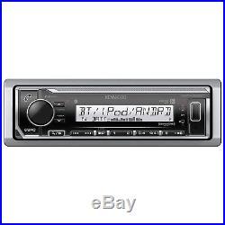 Marine Bluetooth Radio, LED Controller, 2x Kicker 6.5 LED Boat Speakers