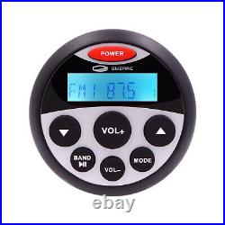Marine Bluetooth Stereo Radio+4'' Box Waterproof Speakers+Boat FM AM Antenna