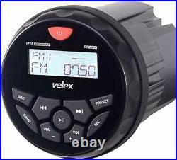 Marine Bluetooth Stereo Receiver, AM FM Radio, Digital Media on Boats Golf Cart