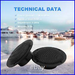 Marine Bluetooth Stereo Receiver Boat Radio System, Waterproof Speakers 2 Pair