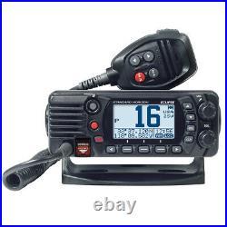 Marine Boat Standard Horizon Fixed Mount Waterproof VHF Radio with GPS Black