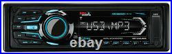 Marine Boss AM FM iPod Bluetooth Radio, 4 Silver Boat Speakers, Amplifier, Antenna