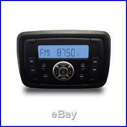 Marine Digital Bluetooth Boat Audio Radio+4 2 Way Marine Speakers+FM/AM Antenna