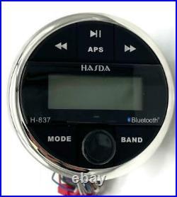 Marine Gauge Bluetooth Boat Stereo Marine Radio Receiver With USB/AM/FM/AUX