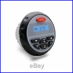 Marine Gauge Bluetooth Radio+2 pairs 6.5 Boat Outdoor speakers+Marine Aerial