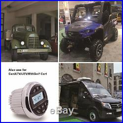 Marine Gauge Radio FM AM MP3 Remote Controller Receiver Bluetooth Boat ATV