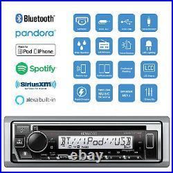 Marine KMRD378BT Bluetooth CD Radio, Black Cover, Antenna, USBAUX Interface Mount