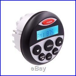 Marine Radio AM/FM Bluetooth Waterproof MP3 Player+140W Boat Speaker+ FM Antenna