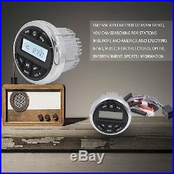Marine Radio Audio Receiver FM AM Gauge Radio Car Boat Bluetooth Stereo Headunit