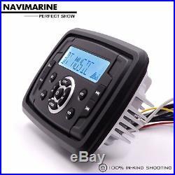 Marine Radio Bluetooth AM FM Waterproof Boat Stereo System Head Unit ATV UTV Car