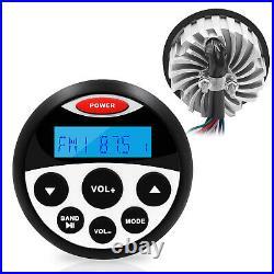 Marine Radio Bluetooth Audio Stereo Mp3 Player + Boat 4 Speakers+FM/AM Aerial