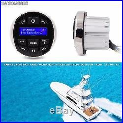 Marine Radio Bluetooth Boat Mp3 Player Audio + Gauge Mount Headunit Stereo DAB