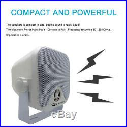 Marine Radio Boat Bluetooth Stereo Car ATV UTV MP3 Receiver + Speaker 2+ Antenna