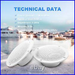 Marine Radio Waterproof Bluetooth Stereo Sytem unit & 4 inch Boat Audio Speakers