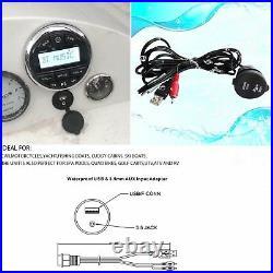 Marine Stereo Audio System Bluetooth Player Boat UTV Radio Receiver MP3 USB
