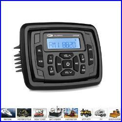 Marine Stereo Audio System Boat Bluetooth Radio+ Waterproof Speakers 2 Pair