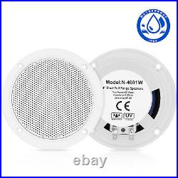 Marine Stereo Bluetooth Audio + 4'' Waterproof Speakers + Boat Radio Antenna