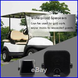 Marine Stereo Bluetooth Radio Waterproof Gauge Audio MP3 Player+4 Boat Speakers