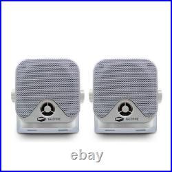 Marine Stereo Bluetooth Receiver Boat FM AM Radio + Box Speaker + Antenna