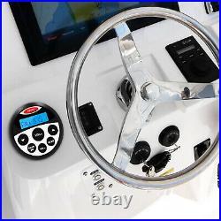 Marine Stereo Bluetooth Receiver Boat Radio + Waterproof 4 Inch Speaker + Aerial