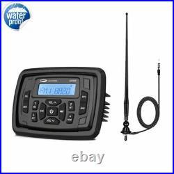 Marine Stereo Bluetooth System unit USB Mp3 Player + Boat FM AM Radio Antenna